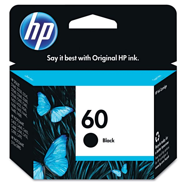 HP 60 Black Ink Cartridge (CC640WN)