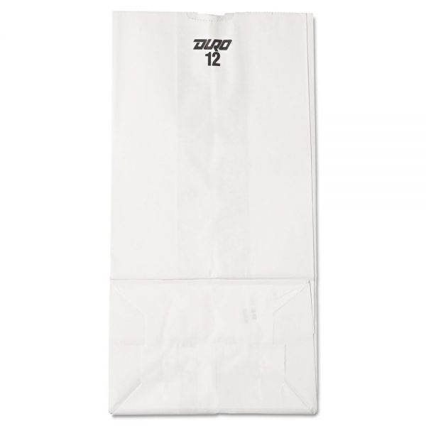 General #12 White Paper Grocery Bags