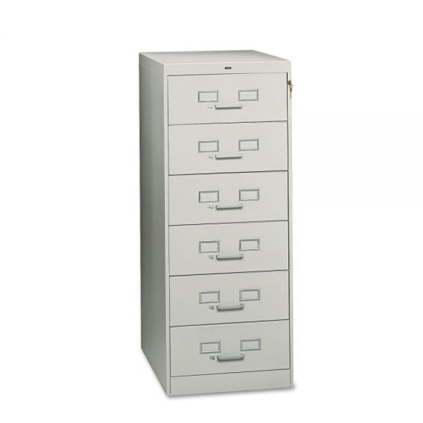 Tennsco Six-Drawer Multimedia Cabinet For 6 x 9 Cards