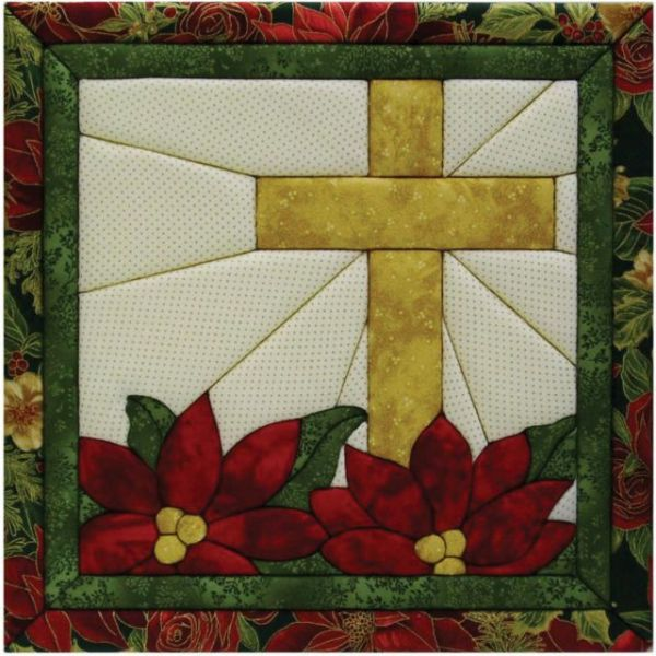 Poinsettia Cross Quilt Magic Kit