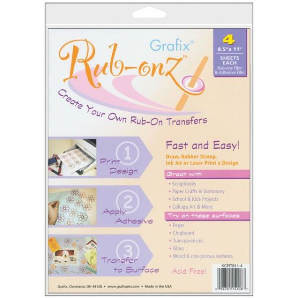 "Rub-Onz Film 8.5""X11"" 8/Pkg"