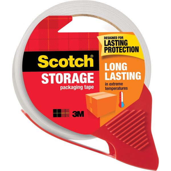 "Scotch Long Lasting 2"" Packing Tape with Dispenser"