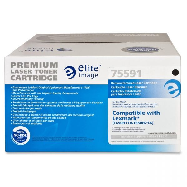 Elite Image Remanufactured Lexmark T650H11A Toner Cartridge