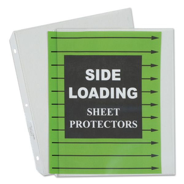 C-Line Side Loading Polypropylene Sheet Protector, Letter, Heavyweight, Clear, 50/Box