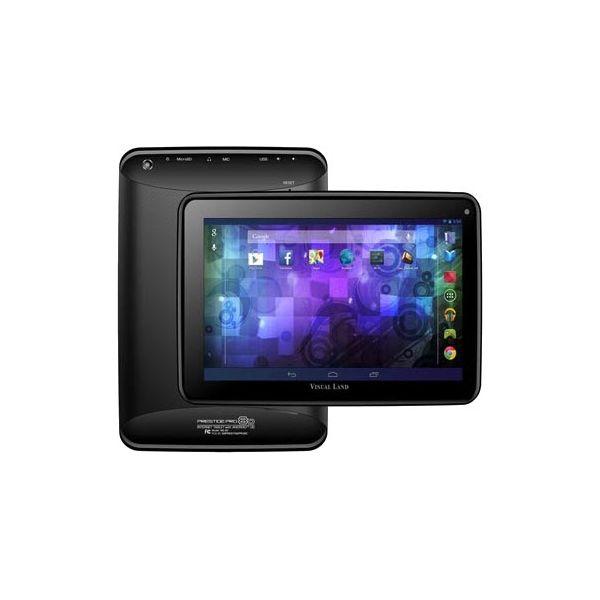 "Visual Land Prestige Pro 8D 8 GB Tablet - 8"" - Wireless LAN - ARM Cortex A9 Dual-core (2 Core) 1.50 GHz - Black"