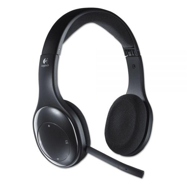 Logitech H800 Binaural Over-the-Head Wireless Bluetooth Headset, 4 ft Range, Black