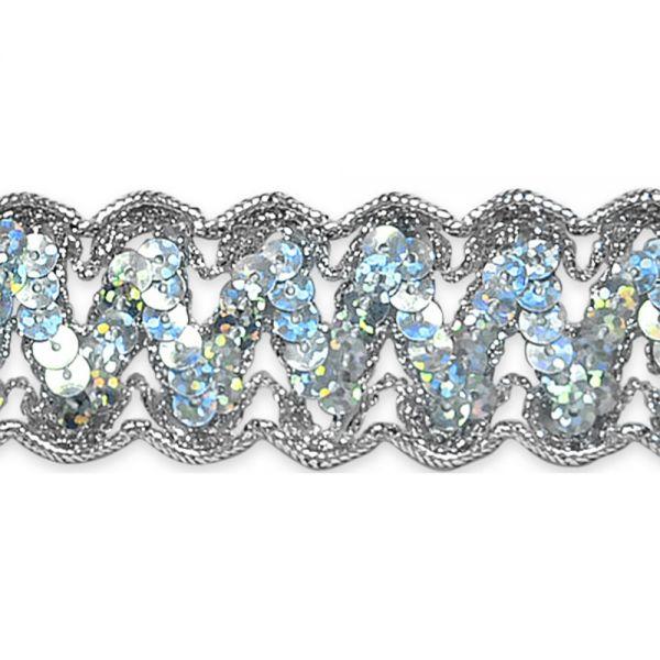 """Nikki Sequin Metallic Braid Trim 1-1/4""""X9'"""