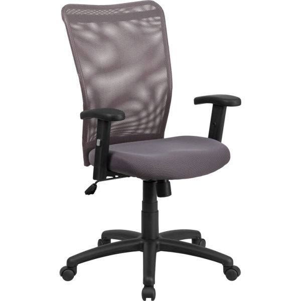 Flash Furniture High Back Ergonomic Swivel Office Chair [CY54A-GY-A-GG]