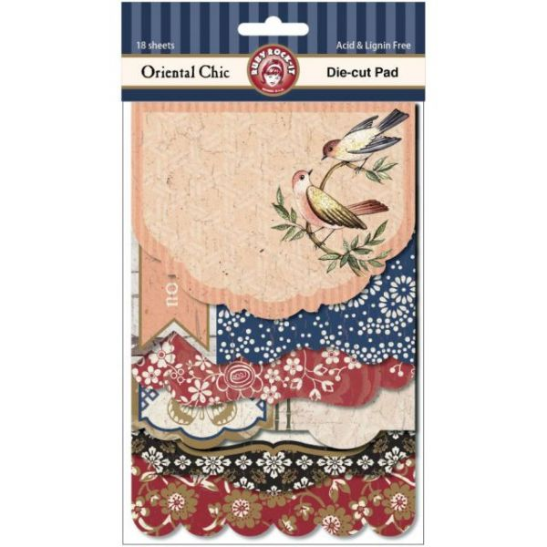 Oriental Chic Die-Cut Pad 18/Sheets