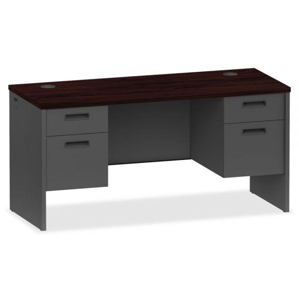 Lorell 97000 Series Modular Double Pedestal Computer Desk