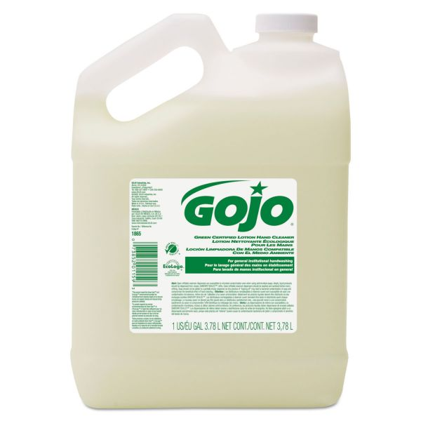 GOJO Green Certified Lotion Hand Cleaner, 1 Gallon Bottle, Floral Scent, 4/Carton