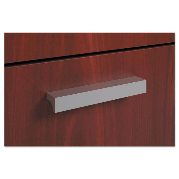 HON basyx by HON BL Series Field Installed Contemporary Pull | Silver | 2-Pack