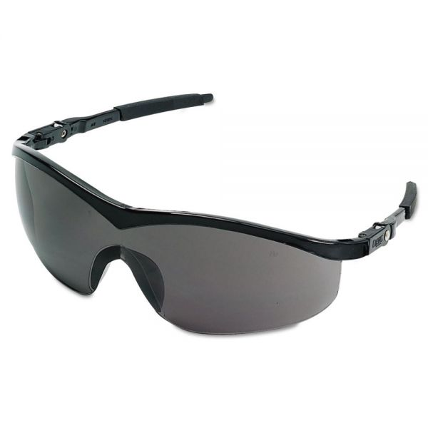 Crews Storm Safety Glasses, Black Frame, Gray Lens, Nylon/Polycarbonate