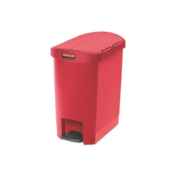 Rubbermaid Slim Jim Resin Step-On 8 Gallon Trash Can