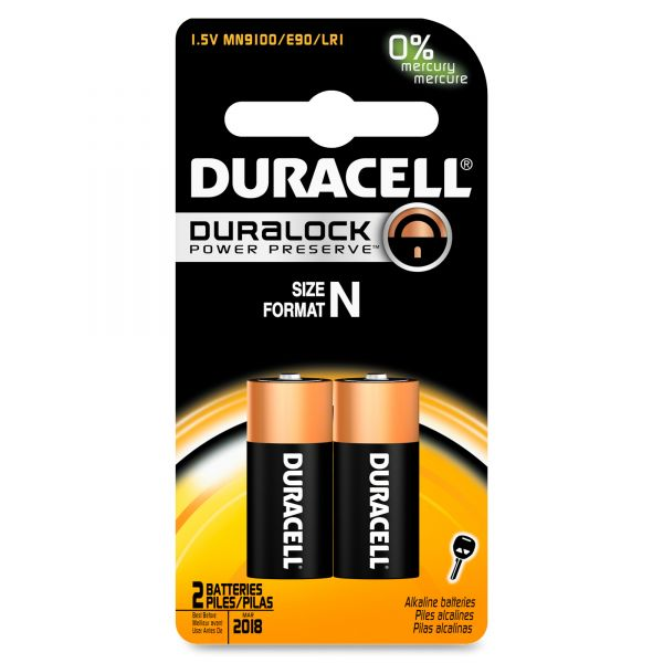 Duracell Coppertop Alkaline Medical Battery, N, 1.5V, 2/Pk