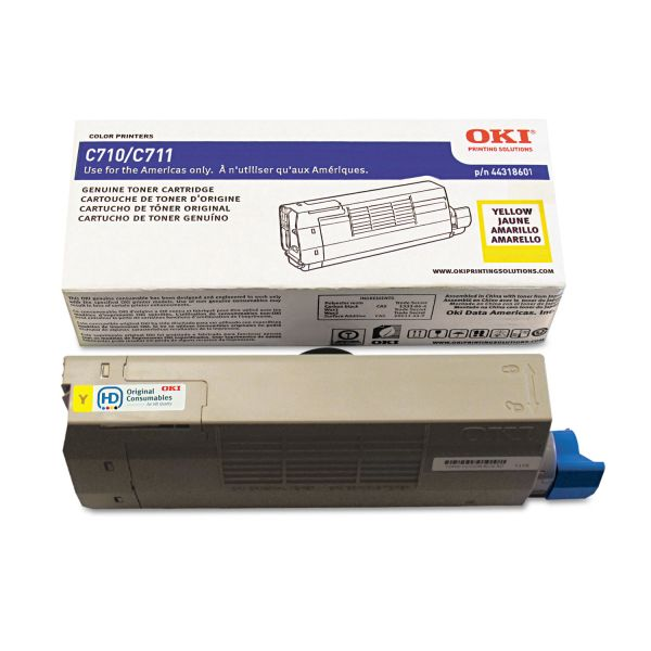 Oki 44318601 Yellow Toner Cartridge