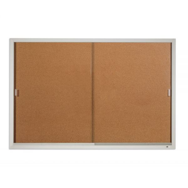 Quartet Enclosed Cork Bulletin Board