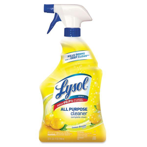 LYSOL Brand II Ready-to-Use All-Purpose Cleaner, Lemon Breeze, 32oz Spray Bottle
