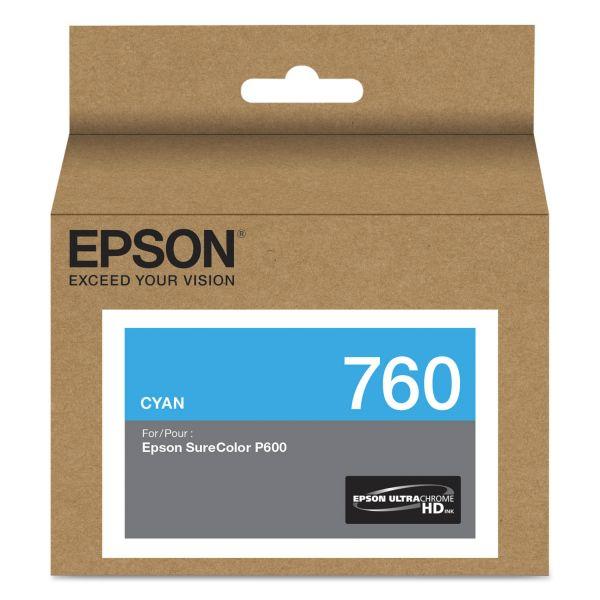 Epson 760 UltraChrome Cyan HD Ink Cartridge (T760220)