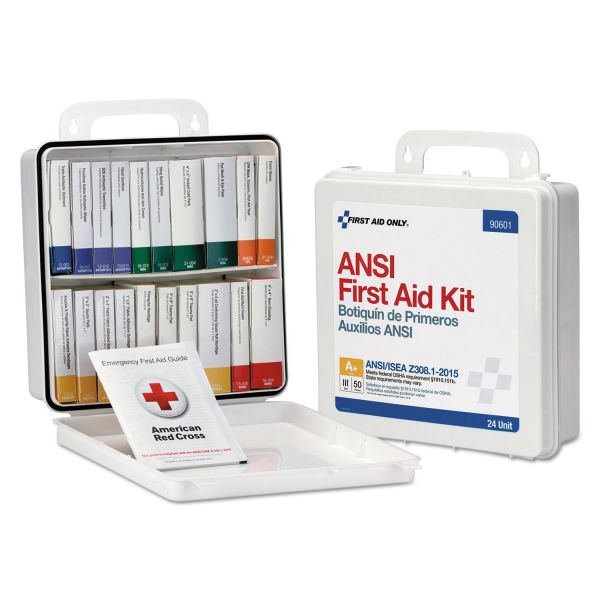 First Aid Only Weatherproof ANSI Class A+ First Aid Kit for 50 People, 24 Pieces