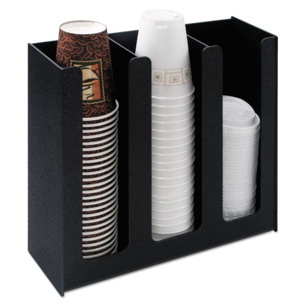 Vertiflex Easy Access 3 Column Cup and Lid Holder