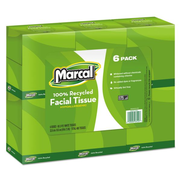 Marcal PRO Recycled 2-Ply Facial Tissues