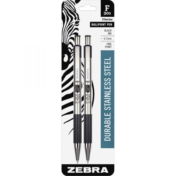 Zebra Pen F-301 Retractable Ballpoint Pens