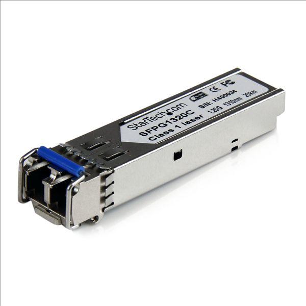 StarTech.com Cisco Compatible Gigabit Fiber SFP Transceiver Module SM LC w/ DDM ? 20 km (Mini-GBIC)