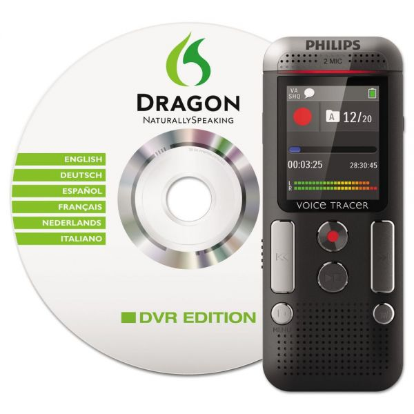 Philips Voice Tracer 2700 Digital Recorder with Speech Recognition Software, 4 GB