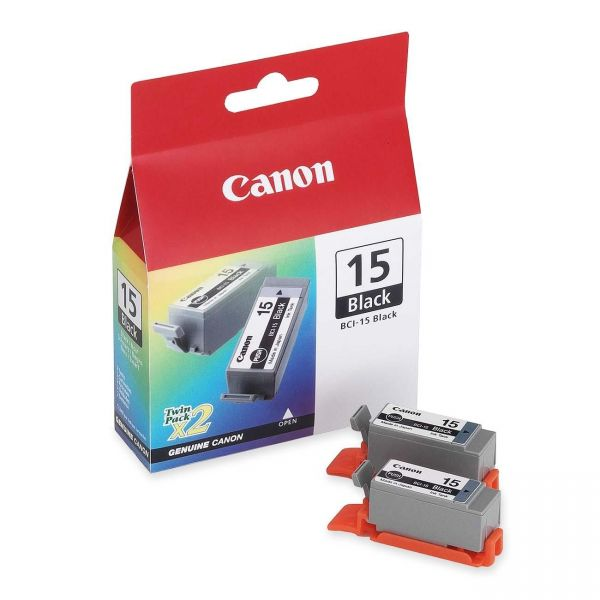 Canon BCI-15BK Black Ink Cartridges (8190A003)