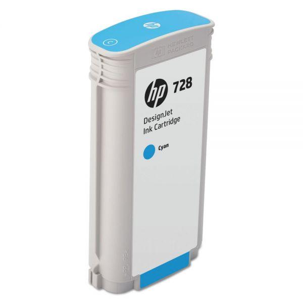 HP 728 Cyan Ink Cartridge (F9J67A)