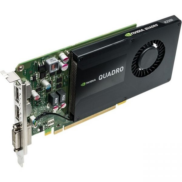 PNY Quadro K2200 Graphic Card - 4 GB GDDR5 SDRAM - PCI Express 2.0 x16 - Full-height - Single Slot Space Required