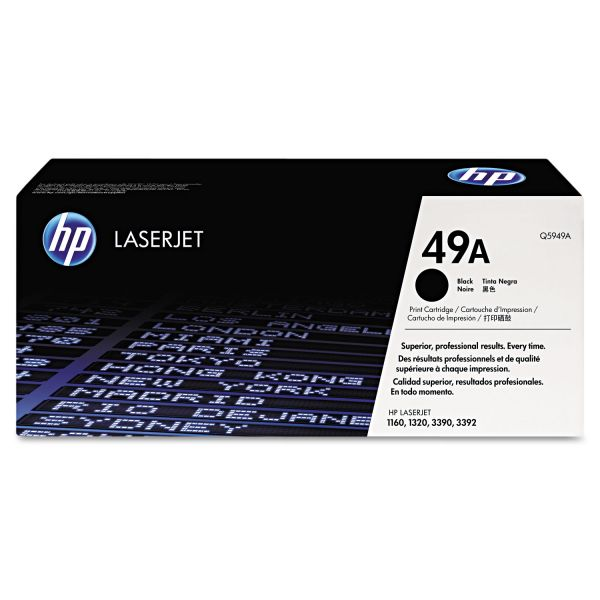 HP 49A, (Q5949A) Black Original LaserJet Toner Cartridge