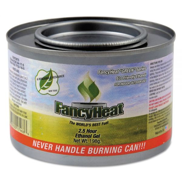 FancyHeat Ethanol Gel Chafing Fuel, 8 oz, Can, 2 1/2 Hour Burn, 72/Carton