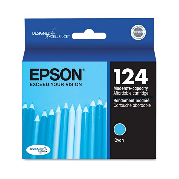 Epson 124 Cyan Ink Cartridge (T124220)