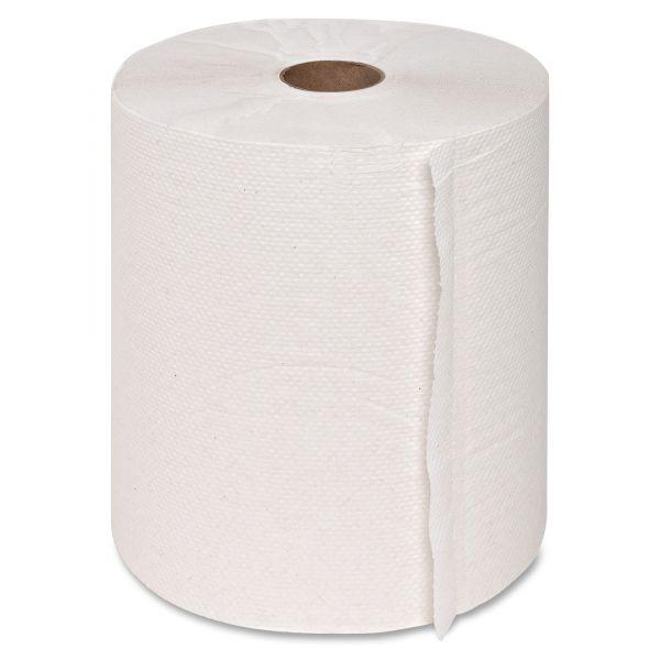 "Genuine Joe Hardwound Paper Towel Rolls, 7.88"" x 350 ft., White, 12 rolls/carton"
