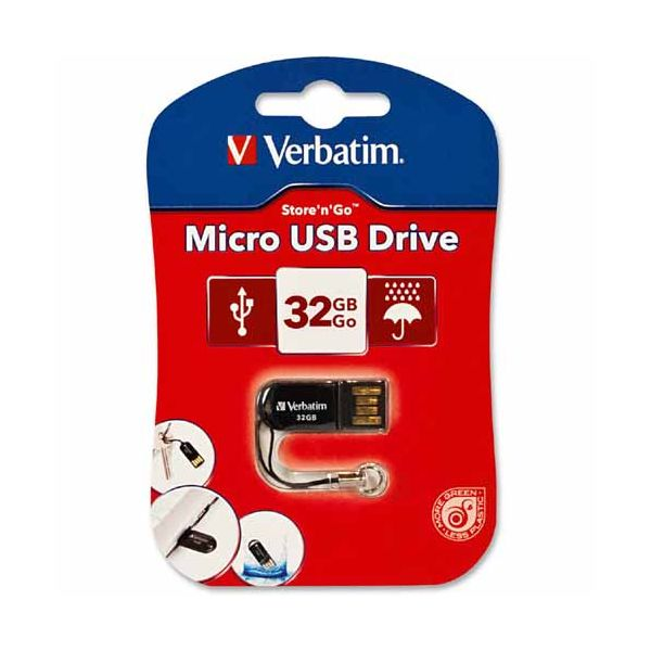 Verbatim 32GB Micro USB Flash Drive