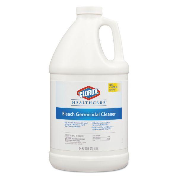 Clorox Healthcare Hospital Cleaner Disinfectant w/Bleach, 2qt Refill