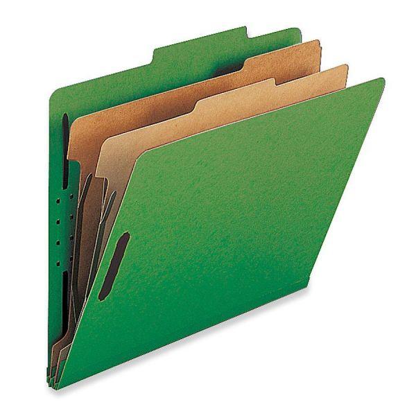 Nature Saver Green 2-Divider Classification Folders