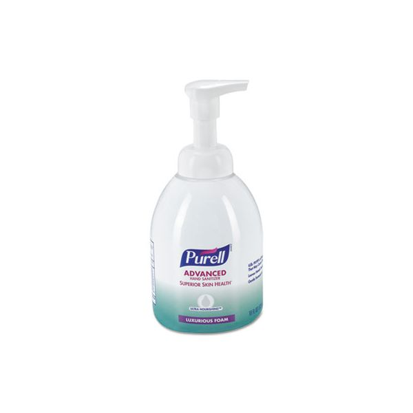 PURELL Advanced Hand Sanitizer Ultra Nourishing Foam, 18 oz Bottle, Fragrance Free