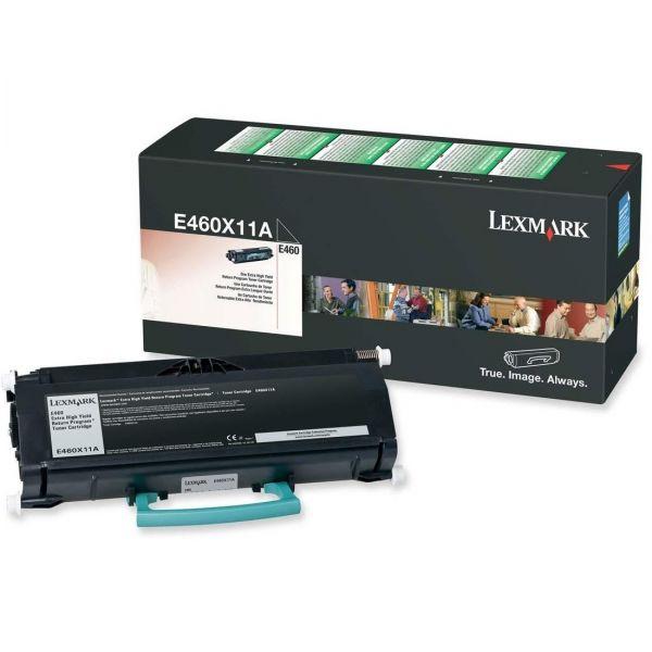 Lexmark E460X11A Black Extra High Yield Return Program Toner Cartridge