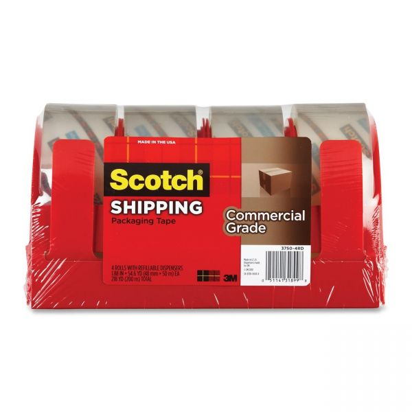 """Scotch Commercial Grade 2"""" Packing Tape with Dispenser"""