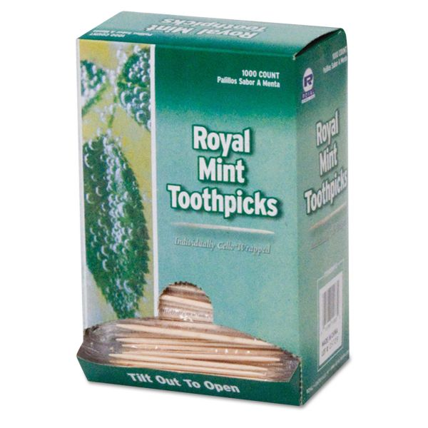 Royal Mint Cello-Wrapped Wood Toothpicks