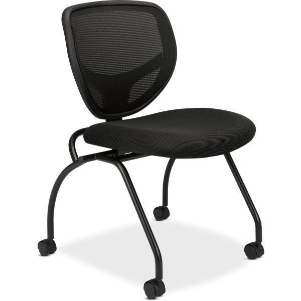 HON basyx by HON HVL302 Mesh Back Nesting Chairs
