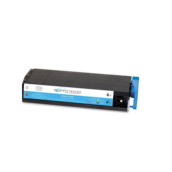 Media Sciences Remanufactured Oki 41963003 Cyan Toner Cartridge