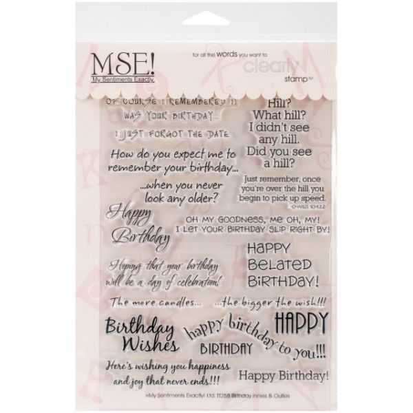 "My Sentiments Exactly Clear Stamps 6""X8"" Sheet"