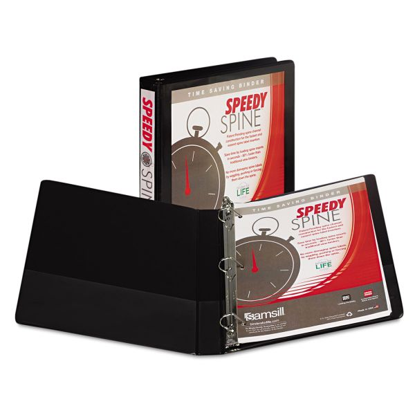 "Samsill Speedy Spine 1"" 3-Ring View Binder"