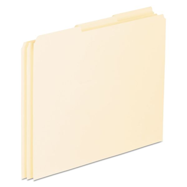 Pendaflex Top Tab File Guides, Blank, 1/3 Tab, 18 Point Manila, Letter, 100/Box