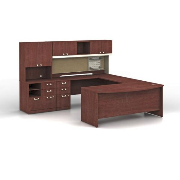 bbf Quantum Executive Configuration - Harvest Cherry finish by Bush Furniture