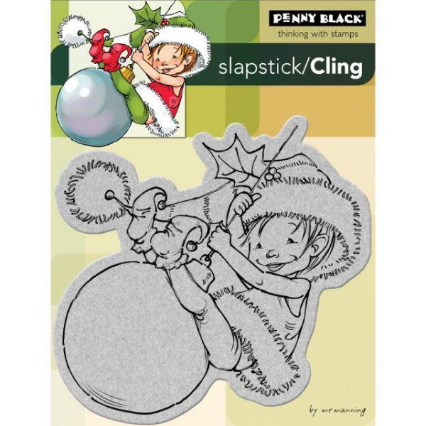 "Penny Black Cling Rubber Stamp 4""X5.25"" Sheet"